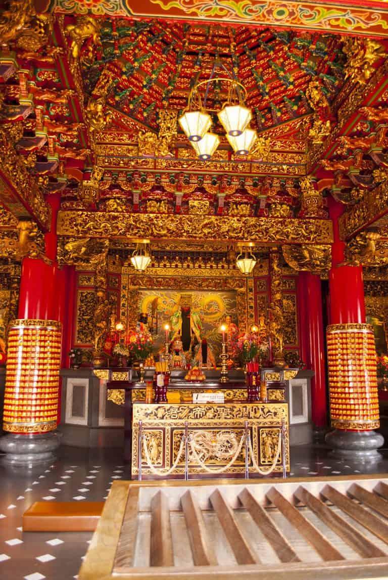Temple Interior Chinatown Yokohama