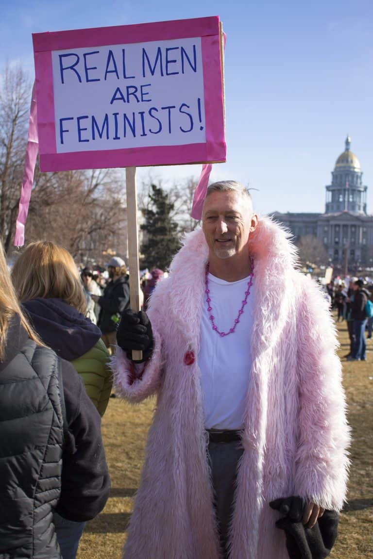 Man at Women's March in Denver